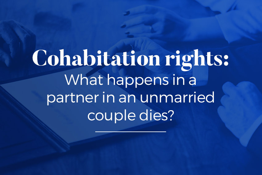What happens if a partner in an unmarried couple dies?