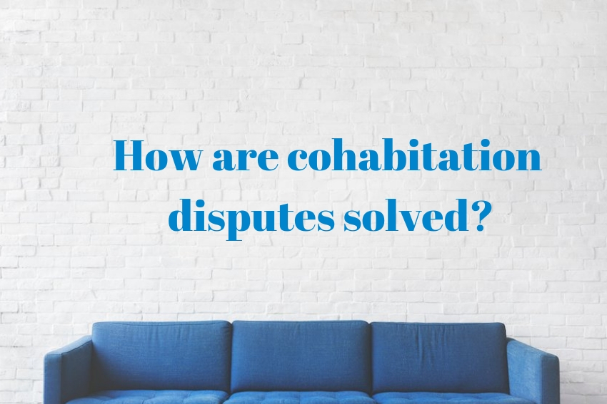 How are cohabitation disputes solved